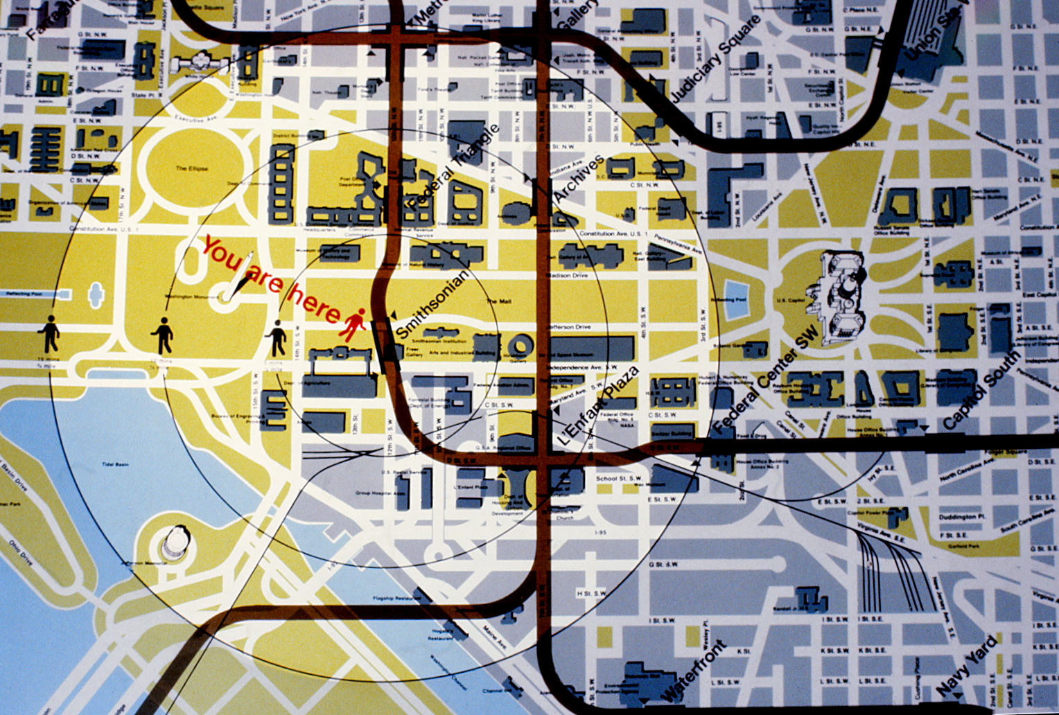 National Mall map detail
