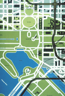DC Tidal Basin map detail