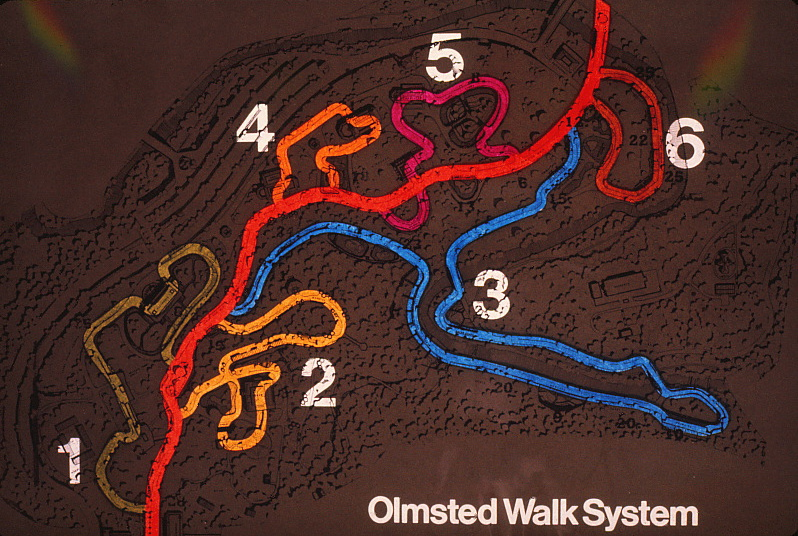 Map of the Olmstead walk