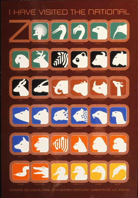 Poster of all the Zoo symbols featuring different animals