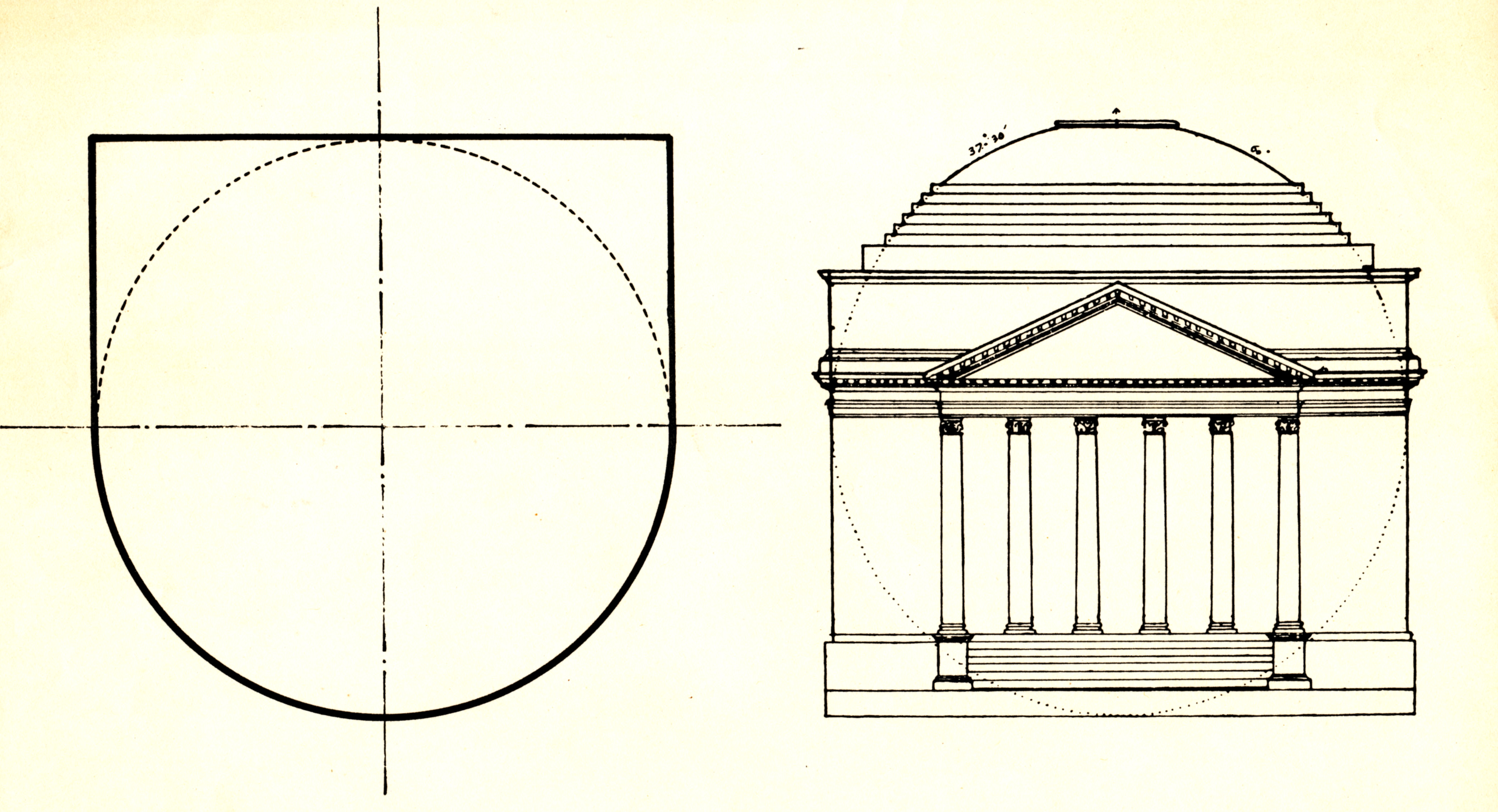 UVA rotunda drawing