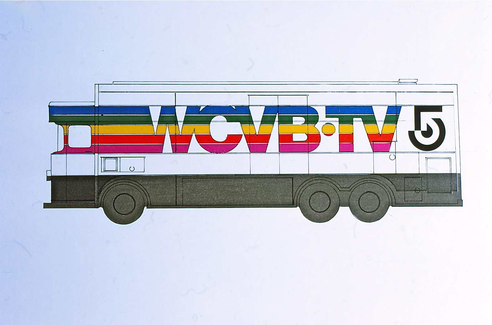 Drawing of truck with logo